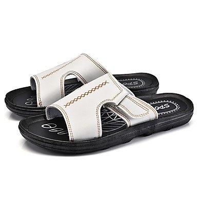 Slippers & amp da uomo;Luce Estate Suole PU casual Moro Nero sandali bianchi sandali US10.5 / EU43 / UK9.5 / CN45