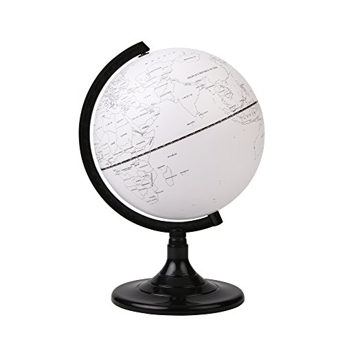 Exerz 20 CM Leere Bildung Drehbarer Globus - in Englischer Sprache - Durchmesser 20 cm