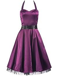 Pretty Kitty lila Satin-Swing-Kleid