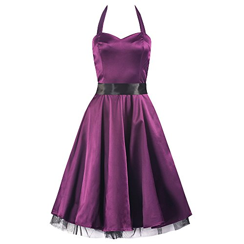Pretty Kitty lila Satin-Swing-Kleid