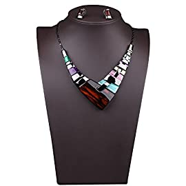 Bestime Womens  Alloy High Level Graceful Extravagant Colorful Necklace