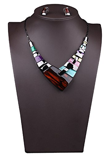 - 41RjG zSMmL - Bestime Womens  Alloy High Level Graceful Extravagant Colorful Necklace