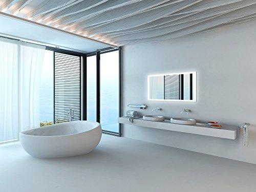 LED Badspiegel mit Beleuchtung 130 cm - 4