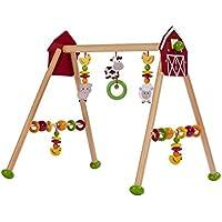 solini Baby Spieltrapez Bauernhof 5-stufig höhenverstellbar / Holz Spielzeug / ab Geburt / bunt/Natur