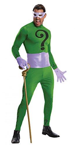 Batman The Riddler Heritage Kostüm für Herren, Größe:L (Riddler Halloween-kostüme)