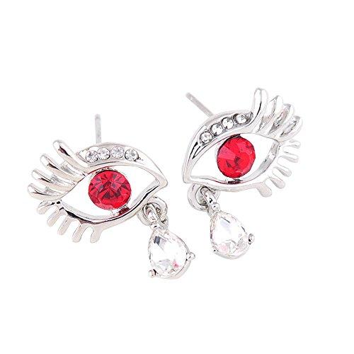 Nikgic 2,2 * 1,4 cm Blau Grün Rot Diamant Mode Persönlichkeit Auge Modellierung Ohrringe Einfache Persönlichkeit Ohrringe Frauen Täglichen Grundlagen