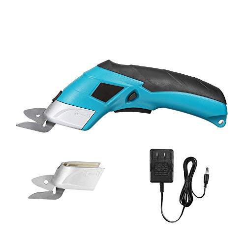 BENPAO Elektrischer Stoffscheren-Kastenschneider für Basteln, Nähen, Pappe, Scrapbooking - wiederaufladbarer 4-V-Li-Ionen-Akku-Motorschneider -