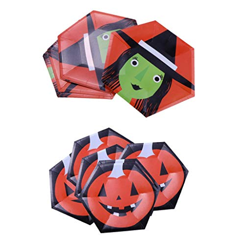 en Teller Einwegteller Pappteller für Halloween Party und Geburtstag ()