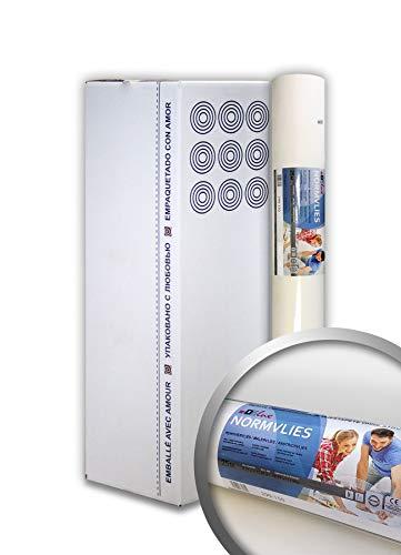 NORMVLIES 150 g Renoviervlies 9 Rollen 168,75 m2 Glattvlies Malervlies glatte überstreichbare Vliestapete weiß