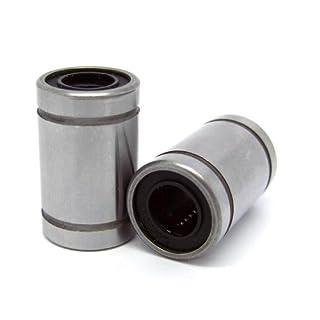 SODIAL(R) 6pcs LM8UU 8mm linear Ball Bearing Busch Buchse