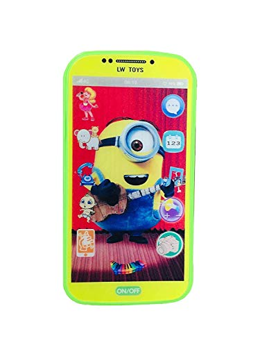 Shreeji Digital Mobile Phone with Touch Screen Feature, Amazing Sound and Light Toy (Minion)