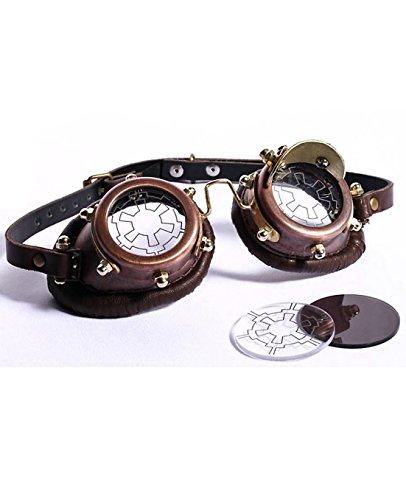 12a9198bddf53 RQ-BL Lunettes Goggles Steampunk Marron lentille viseur ou Noir sans  Correction