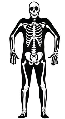Fiestas Guirca Skeleton Mann Kostüm für Horror - Scheletro Kostüm