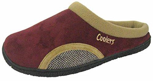 Coolers Zoccoli in Microsuede, muli Burgundy