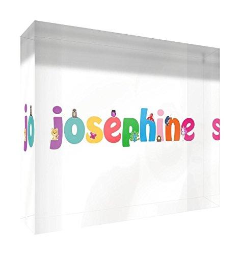 Little Helper JOSEPHINE-A7BLK-15DE Diamant Poliert Baby Andenken / Token, Personalisiert, Mädchenname, Josephine, 7.4 x 10.5 x 2 cm, klein miniatur-token (Jungen Schlafsack Personalisierte)