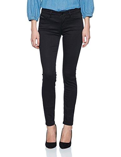 Calvin Klein Jeans Damen Jeanshose Mid Rise Skinny, Schwarz (Pop Black 905), W28/L32 (Jeans Mid-rise)