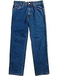 Mens Jeans Hard Wearing Heavy Duty Aztec Casual Denim Trouser Inside Leg 29 Inches