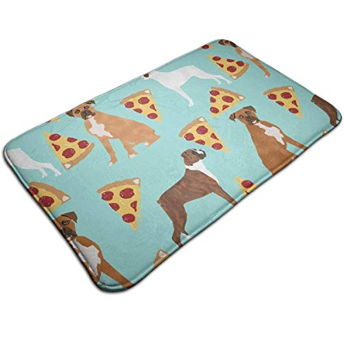 dfegyfr Boxer Dog Pizza Kitchen Carpet Rug Door Mat Rug for Bathroom Outdoor Porch Laundry Living (19.5