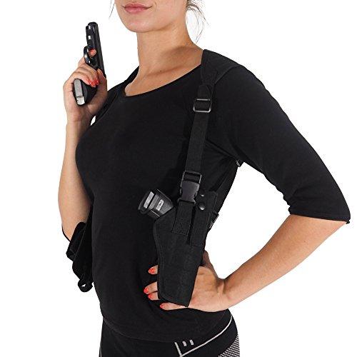 Oramics Pistolenholster Schulterholster verstellbar mit Magazintaschen