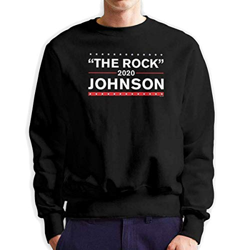 SASJOD Männer Hoodies The Rock Johnson 2020 Men's Adult Crew Neck Sweatshirt Fashion Long Sleeve Pullover -