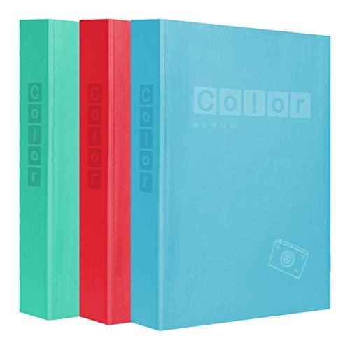 Lcd - set di 3 album festival con tasche per 200 foto, 10 x 15 cm