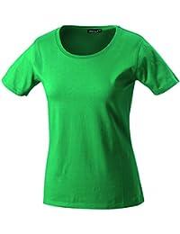 Camiseta Mujer hecha de Single-Jersey Ladies Tee Shirt Top manga corta Print-Shirt