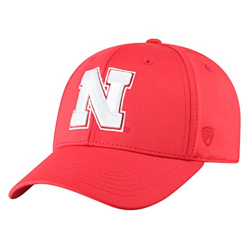 ren Mütze NCAA One Fit Phenom Team Icon, Herren, NCAA Men's One Fit Phenom Team Icon Hat, Nebraska Cornhuskers Red, Einstellbar ()