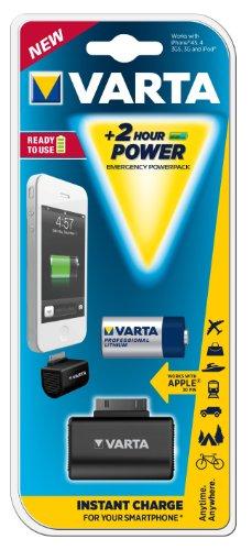 Varta Emergency Powerpack Batteria Tampone per Apple, 30 Pin, Nero
