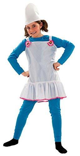 Imagen de disfraz duende azul para niña de 7 9 años