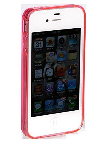 luvvitt Glace Etui Coque souple pour iPhone 4et 4S rose
