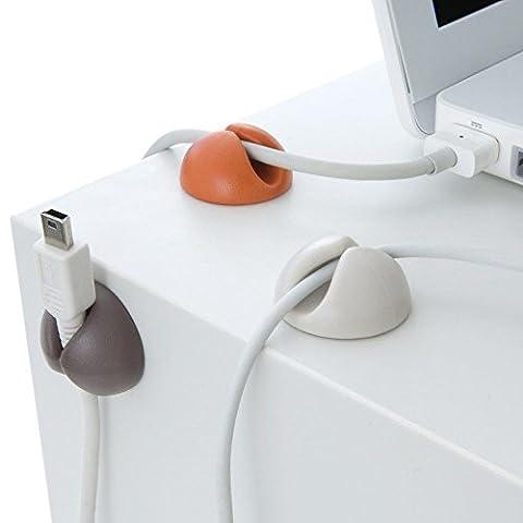 Mycs Lot de 6Câble Clips Organiseur pour bureau bien Rangé chargeur USB support de câbles Fil goutte plomb