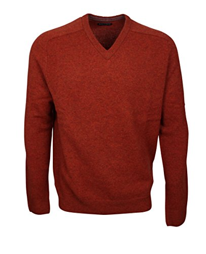174607 - Bots & Bots - V-Neck Pullover Homme - Lambswool - Normal Fit Rouille
