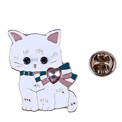 SEVENHOPE Katze Brosche Emaille Pin Broschen Für Frauen Revers (Stil 2)