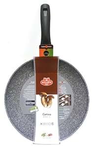 Ballarini Cortina Granitium Padella, Alluminio, Diametro 28 cm, Grigio