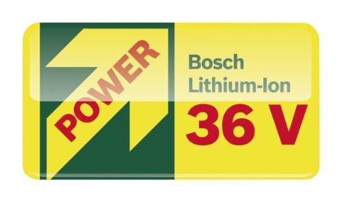 Bosch DIY Akku-Rasenmäher Rotak 32 LI High Power, Akku, Ladegerät, Grasfangbox 31 l (36 V, Ergoflex-System, Schnittbreite 32 cm, Schnitthöhe 30-60 mm) -