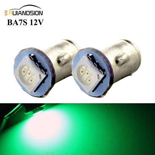 Ruiandsion 2x BA7S LED Éclairage intérieur pour auto 12V 5050 1SMD 30lm, vert