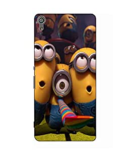 Case Cover Minions Printed Multicolor Hard Back Cover For Sony Xperia XA Ultra Dual