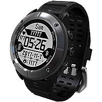 Formulaone Pantalla de 1,2 Pulgadas Impermeable Senderismo al Aire Libre Ejecución del Reloj Inteligente Monitor de Ritmo cardíaco GPS Termómetro Reloj Deportivo - Gris