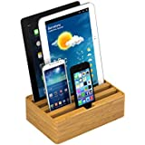 ALLDOCK Ladestation - Medium - Bambus 4x USB Hub pro Port 2400 mA Gesamtleistung 9600 mA - gut und günstig