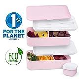 Umami Lunch Box | Boîte Bento Japonaise Premium avec 3 Couverts Solides Et 1 Pot À Sauce | 1200ml | Hermétique | Passe Au Micro-Ondes Et Au Lave-Vaisselle | sans BPA | Marque Déposée