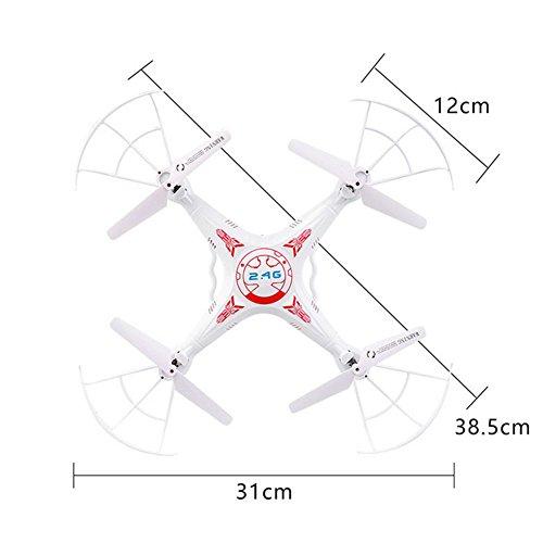 OOFAY® Drohne mit Kamera X5 Fernbedienung Flugzeug Antenne Drohne Quadcopter, white