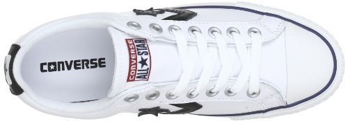 Converse Sp Core Lea Ox, Baskets mode mixte adulte Blanc (Blanc/Noir)