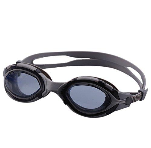 QQBL Schwimmbrille Beach Swimming Brille HD PC Silikon Anti-Nebel Erwachsenen Brille 0,15 Kg,Gray