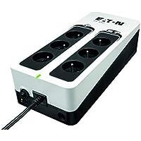 Eaton Onduleur 3S 450 FR - Off-line UPS - 3S450F - 450VA (6 prises FR) Noir/Blanc
