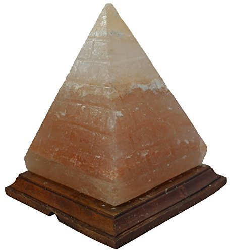 Crystal Rock Salt Lamps in Pyramid Shape