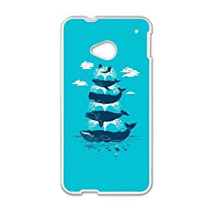 HTC One M7 Cell Phone Case White Whale of a Time Gbqf