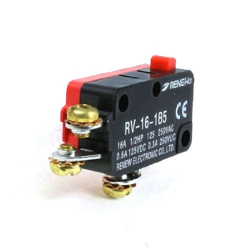 Preisvergleich Produktbild rv-16–1B5 SPDT rot Momentary Push Button Miniatur micro Limit Switch