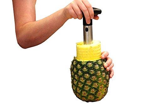 Oaklyn Edelstahl Ananas Corer Cutter Slicer Wedger Dicer Schäler Obst Werkzeug - Schneiden Ananas Schnell Und Einfach Ohne Messer Runder Tisch Glas Abdeckung