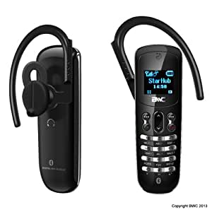 BWC Micro-Phone, les mondes plus petit téléphone GSM qui peut également doubler comme un casque d'écoute Bluetooth Inteligent pour votre tablette ou smartphone 3G