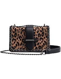 b8c7218ded755 Kawei Damen Elegant Leopard Umhängetasche Retro Trend Klein Messenger Tasche  Fashion Temperament Schultertasche Original mit…